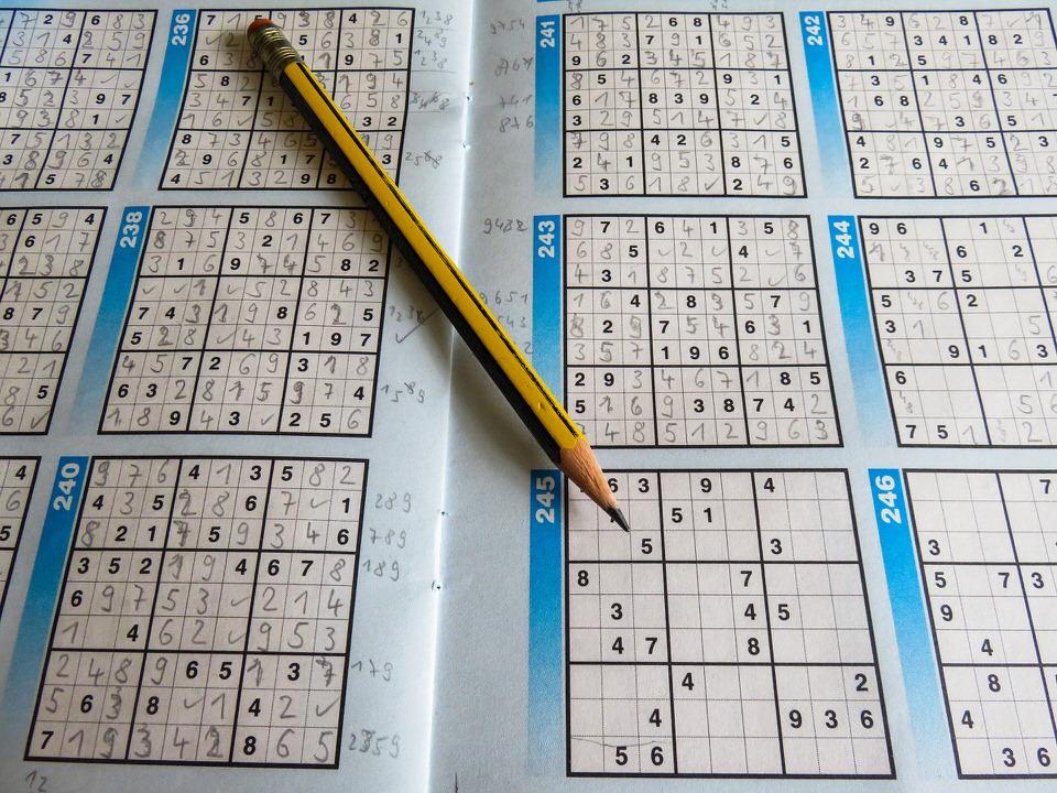 クロスワードパズルの画像